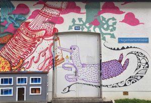 Basel, Hegenheimerstrasse, Graffiti
