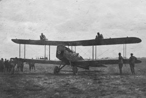 Curtiss Jenny Aircraft with Parachute Jumpers