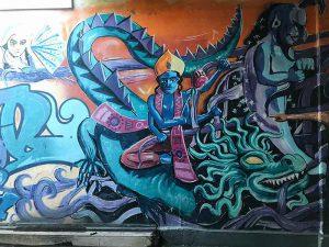 Basel, Klybeckstrasse, Graffiti