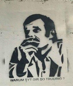 Graffiti, Basel, St. Jakob Gartenbad, Mani Matter
