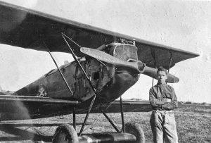 William Wilhelm Leemann with Curtiss Jenny Aircraft historic aircraft