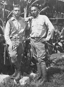William Wilhelm Leemann with friend Howard White Winnebago Tribe
