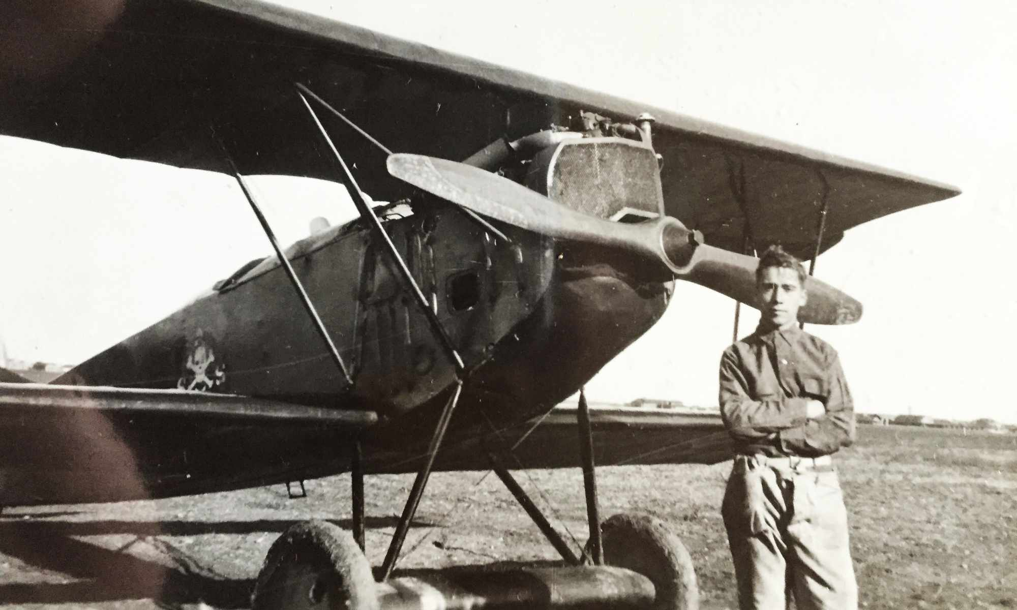 William Wilhelm Leemann with Curtiss Jenny Aircraft