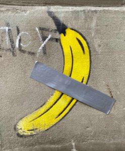 Graffiti, Basel, Banane, Banana, «Comedian» Maurizio Cattelan