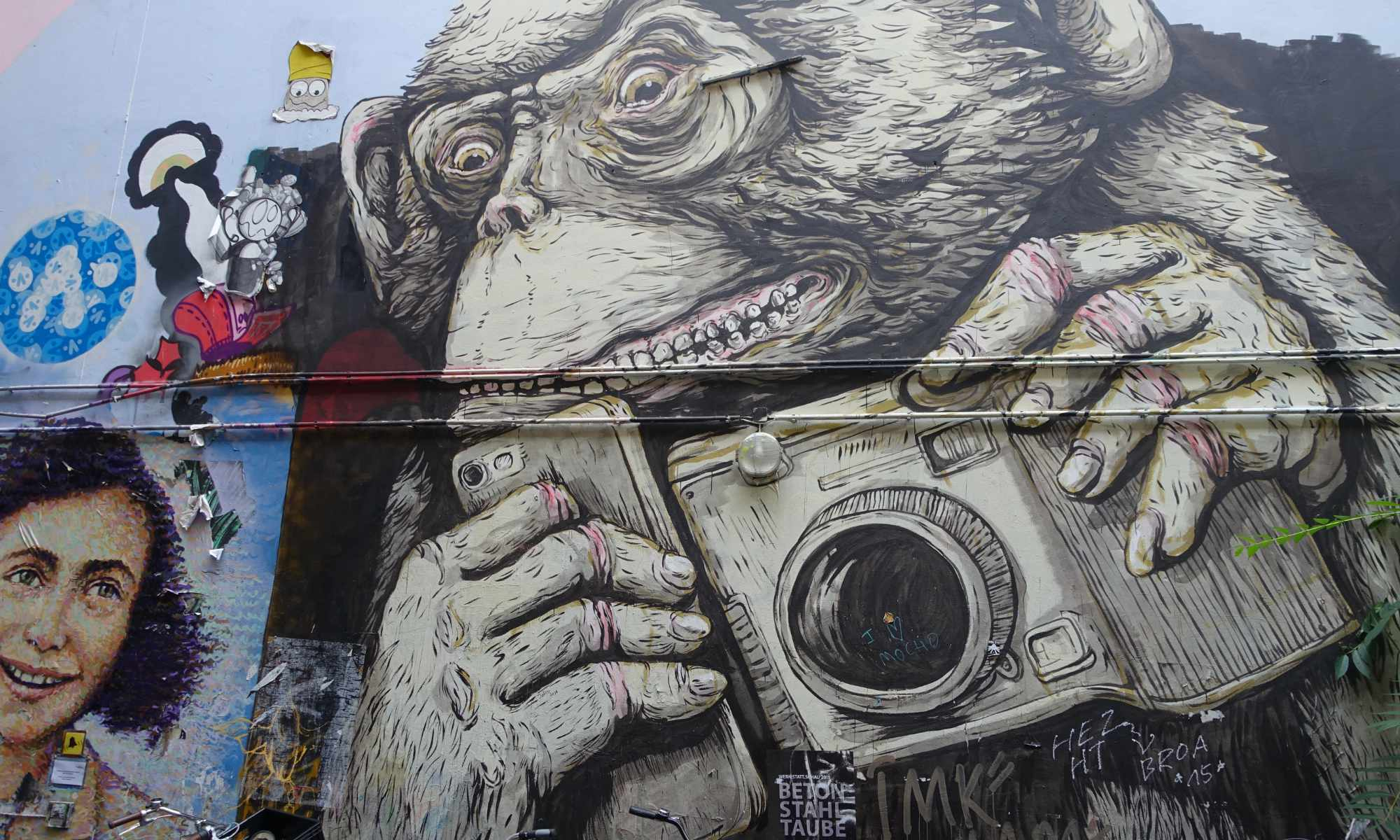 Graffiti, Berlin Haus Schwarzenberg, Kamera