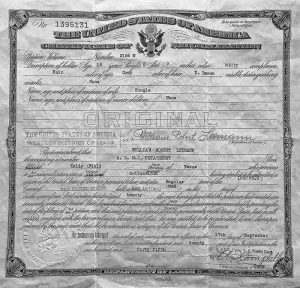 William Leemann, Certificate of Naturalization