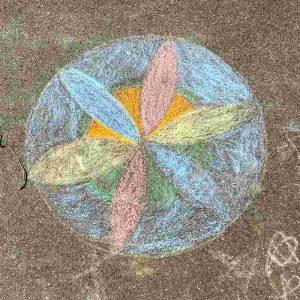 Kinder Kreidezeichnung Im langen Loh Basel