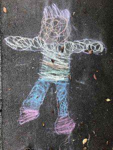 Strassenmalerei Kinder Basel Realpstrasse