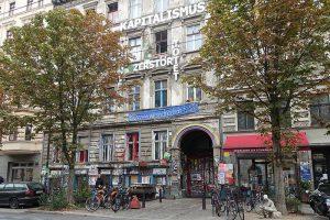 Strassenszene in Berlin urbanes Leben