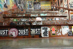 Strassenszene in Berlin, Graffiti