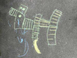 Kinder Kreidezeichnung Göschenenstrasse Basel