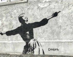 Bild: Graffiti Bergen Norwegen