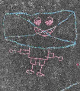 Kinder-Kreidezeichnung Furkastrasse Basel