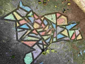 Kinder-Kreidezeichnung Im langen Loh Basel