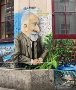 Basel, Steinenbachgässlein, Graffiti