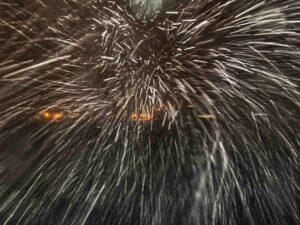 Schneesturm in Bodø, Norwegen, Wetter