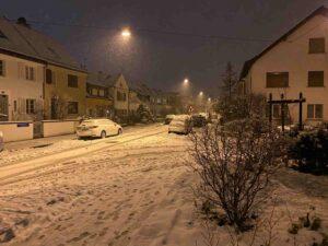 Schneefall, Neubadquartier, Basel, 2021