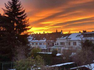 Sonnenaufgang, Neubadquartier, Basel, 2021