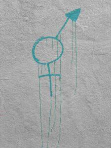 Graffiti Venussymbol, weiblich