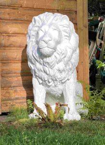 Gartenwächter, Löwe in Garten