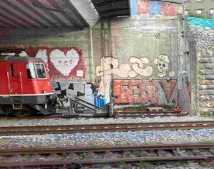 Basel, Einfahrt in den Hauptbahnhof SBB