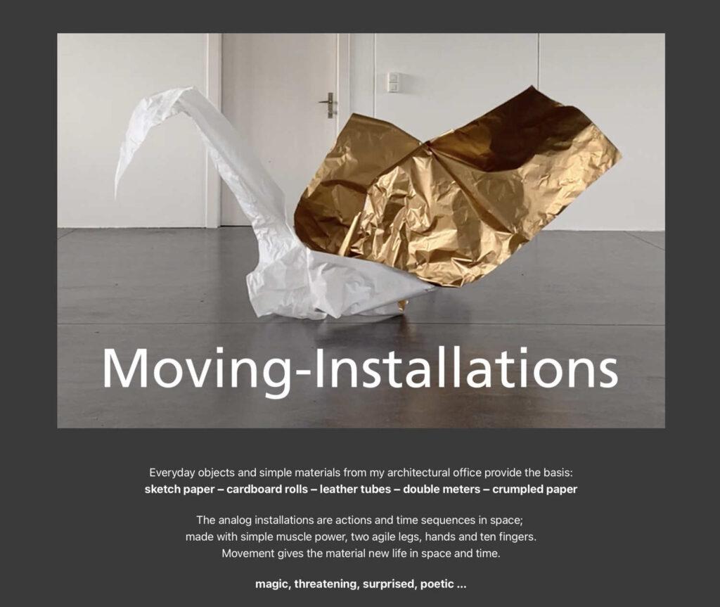 video moving installations waste-art georg marbet