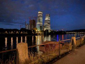 Basel, Rhein, Roche-Türme