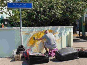 Graffiti, Im langen Loh Basel, Biene
